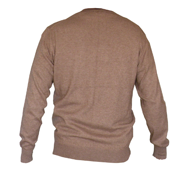 Pull homme marron clair