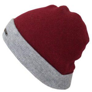 bonnet réversible en cachemire