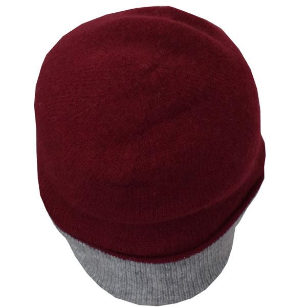 Bonnet reversible rouge