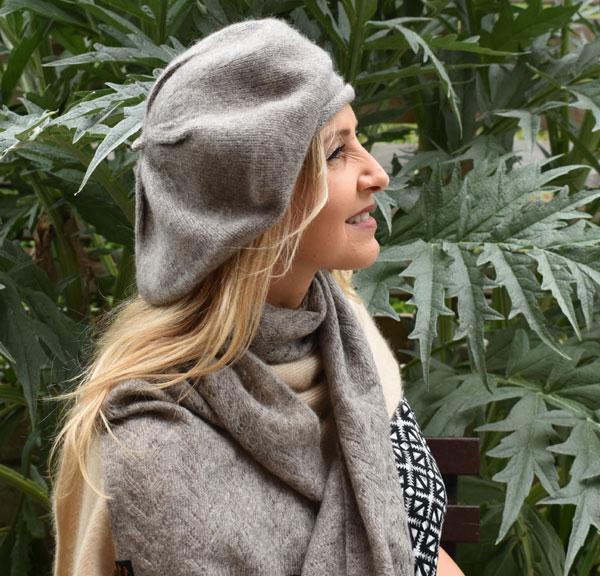 bonnet beret pour hiver