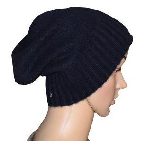 bonnet bleu marine cachemire