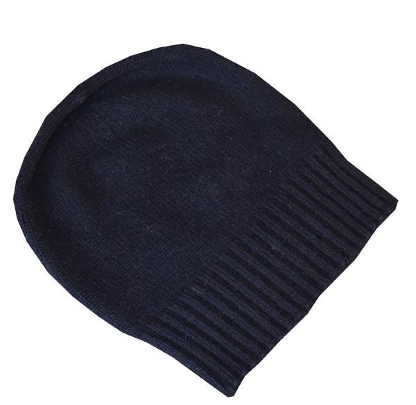 bonnet bleu sport cachemire