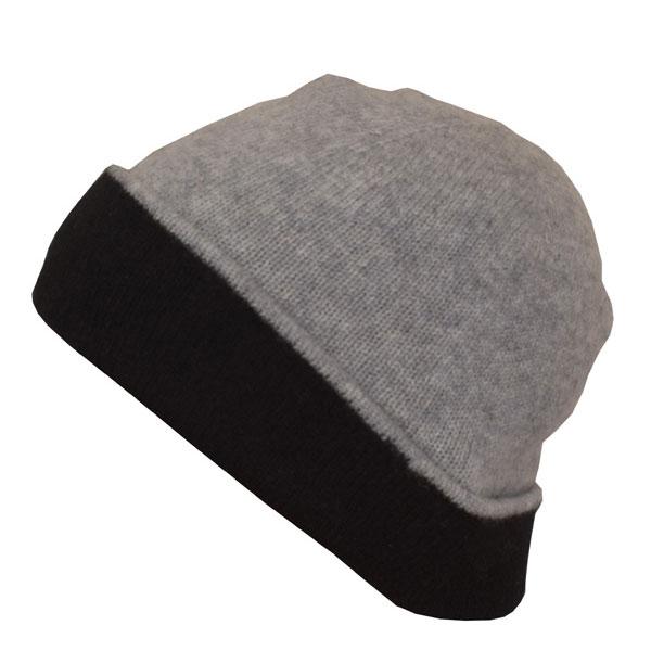 bonnet cachemire 2 couleurs
