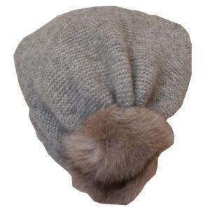 bonnet laine tombant