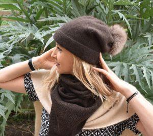 bonnet tombant pure laine