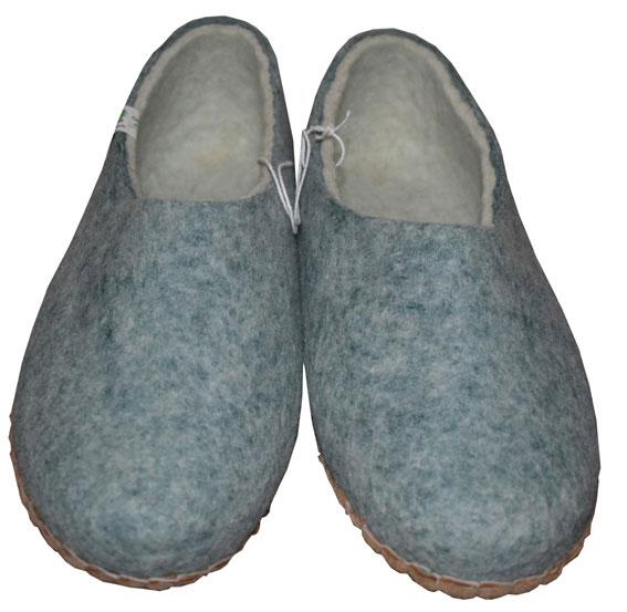 chaussons en feutre fait main