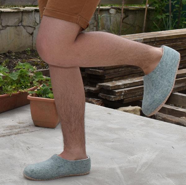chaussons en laine pour homme