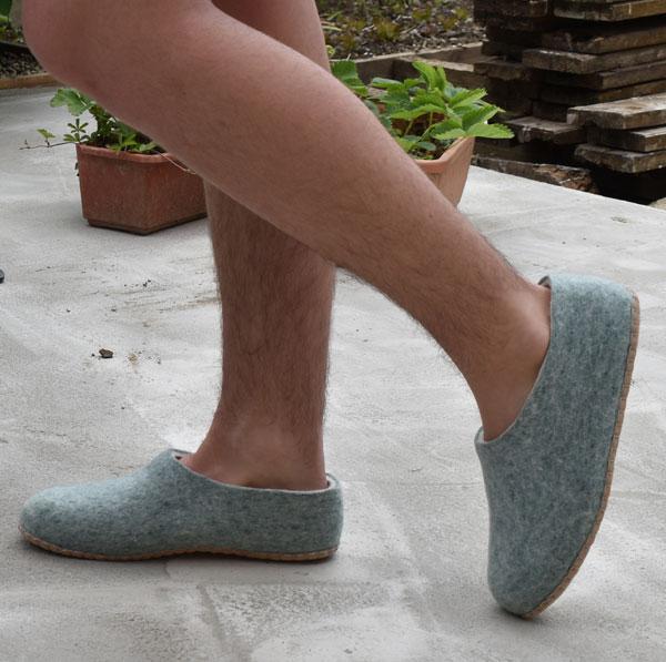 chaussons homme en feutre