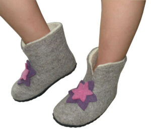chaussons fille naturels 20