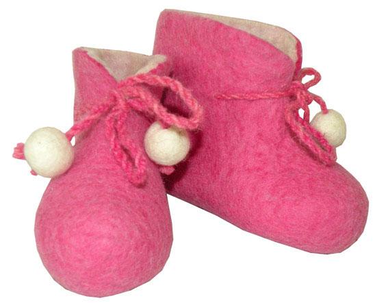 chaussons bébé en laine naturels