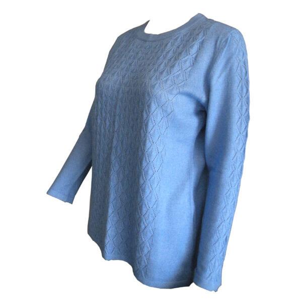 pull bleu en laine 1