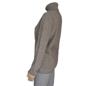 pull femme col roule laine
