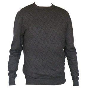 pull homme noir en laine