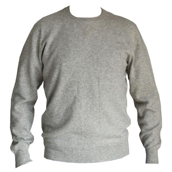pull homme en laine gris