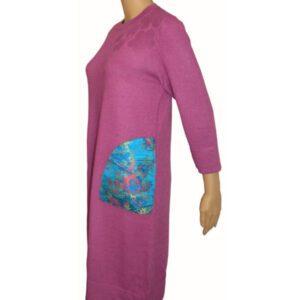 robe chaude violete