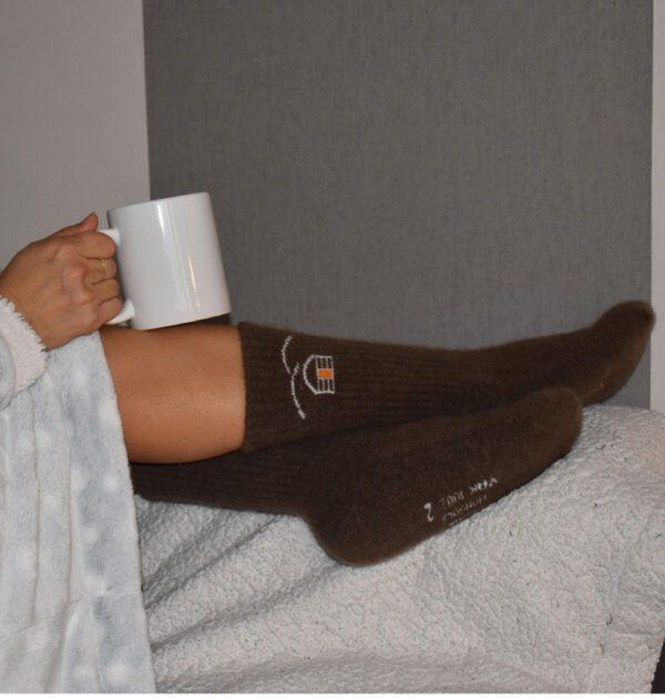 chaussettes en laine de yack
