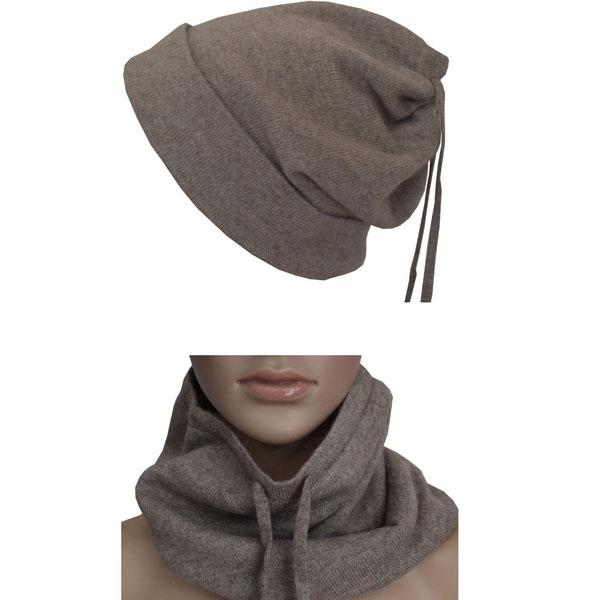 bonnet cache cou en cachemire