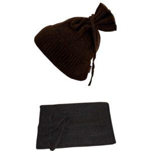 bonnet 2en1 en laine de yak laine