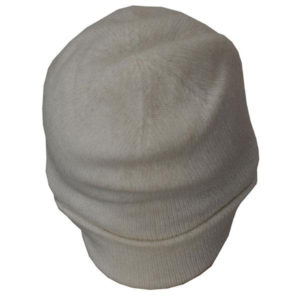 bonnet blanc leger cachemi