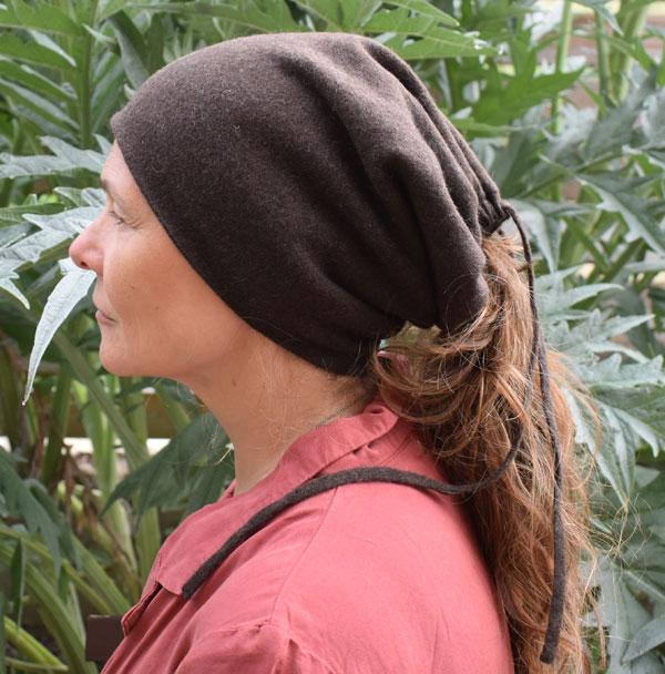 bonnet cache cou laine