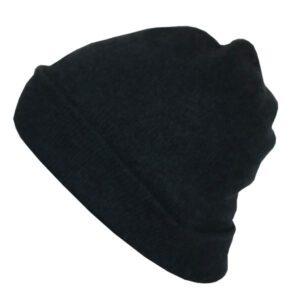 bonnet cachemire vert fonce 1