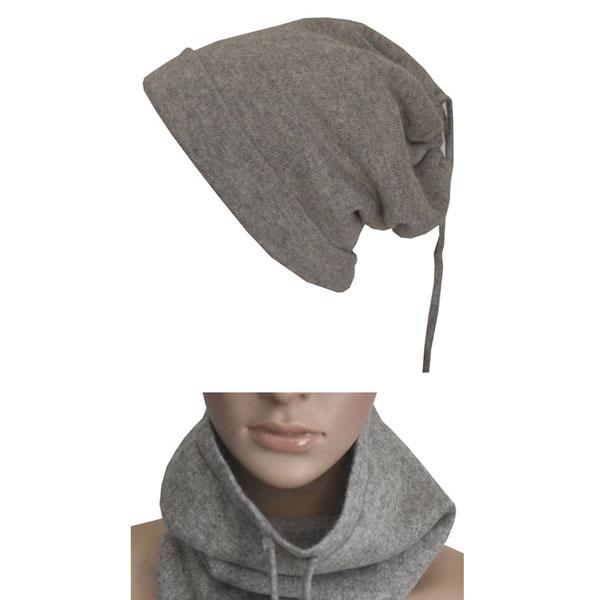 bonnet cache cou en laine