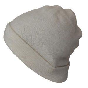 bonnet leger blanc cachemir