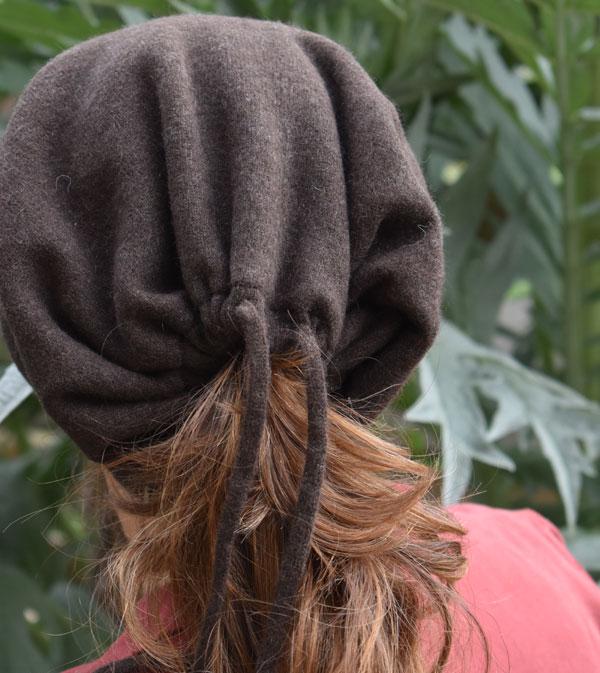 bonnet pour cheveux long