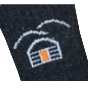 chaussette laine noir