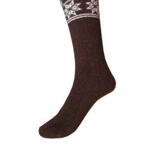 chaussettes longue marron f