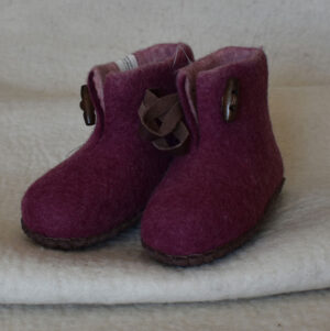chaussons enfant rouge 1