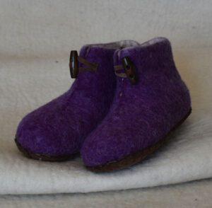 chaussons enfant violet 1