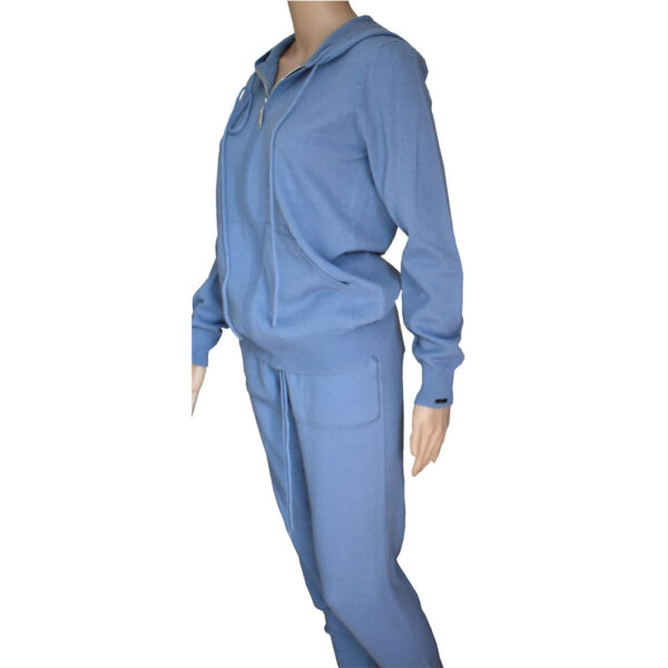 gilet femme en cachemire bleu