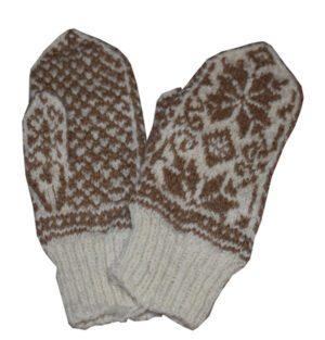 moufle en laine tricote