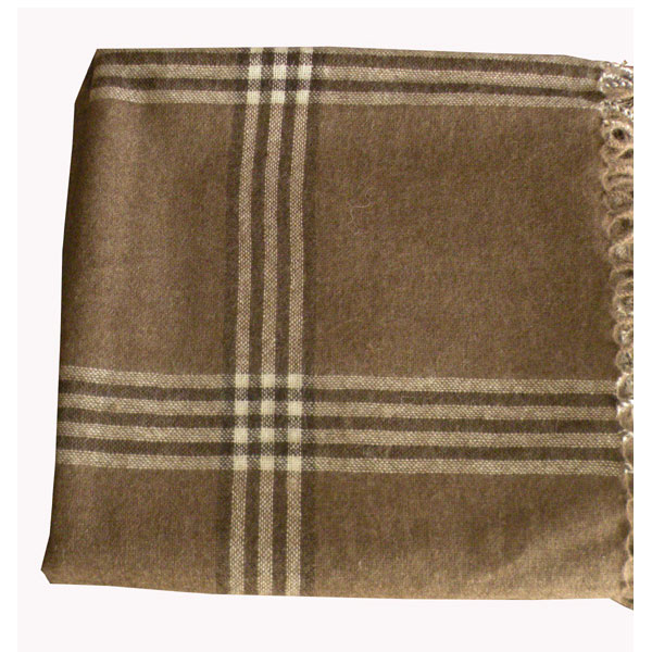 plaid naturel bio en laine