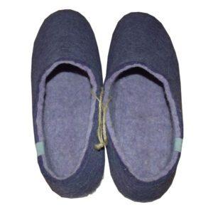 chaussons violet laine
