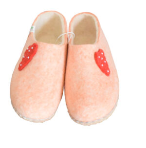 chaussons rose clair