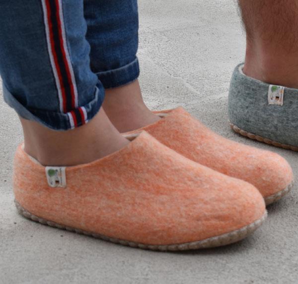 pantoufles femme en laine