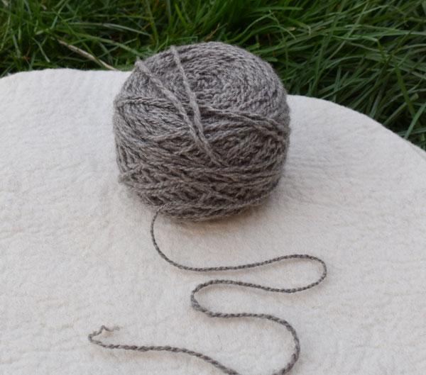 pelote de laine yak gris