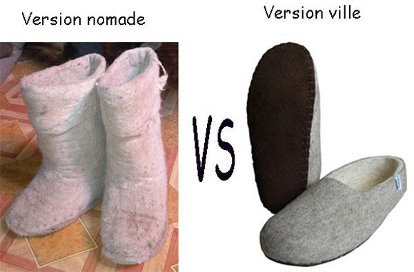 bottes et chaussons en feutre