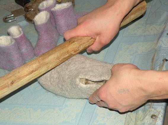 comment faire des chaussons en feutre