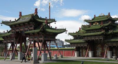 Le monastère de Gandan Tegc en Mongolie