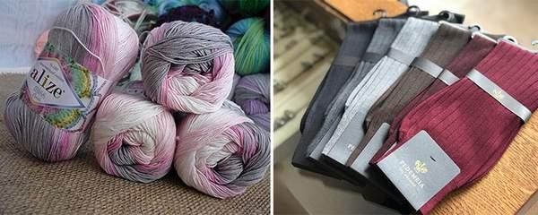 Chaussettes en coton mercerisé