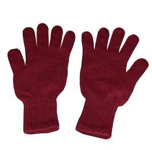 gants bordeaux en cachemire