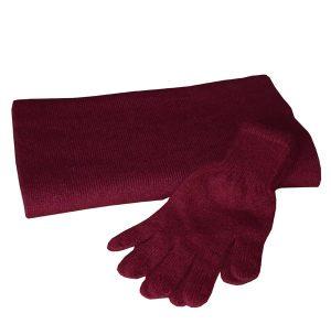 gants bordeaux femme cachemire