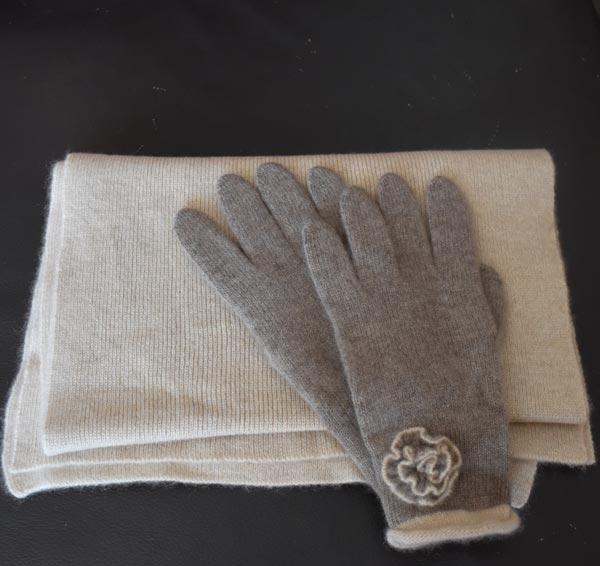 gants femme en cachemire